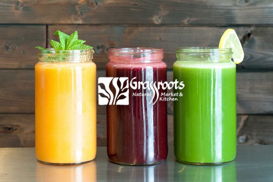 Grassroots Natural Kitchen & Market 3 fruit smoothies