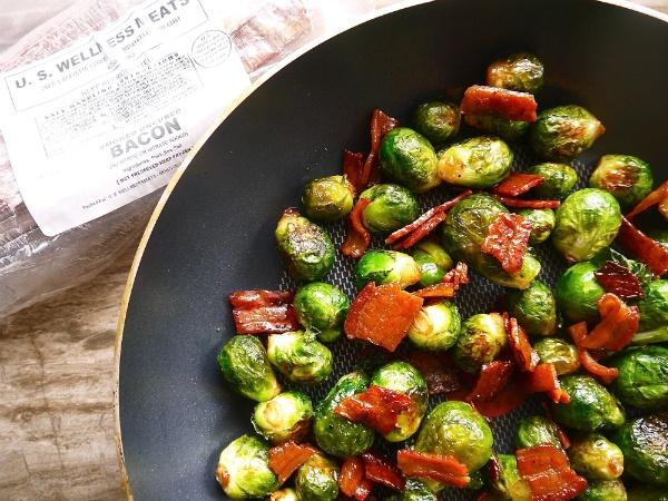 Dominique Fasano's Crispy Maple Bacon Brussel Sprouts (paleo,gf) Recipe