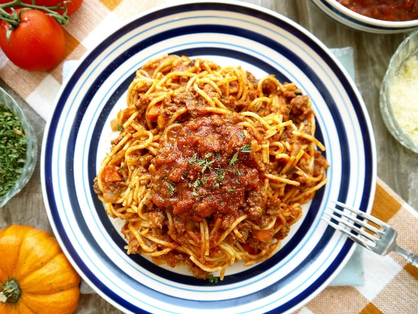 Dominique Fasano's Paleo Pumpkin Meat Sauce Ragu Recipe