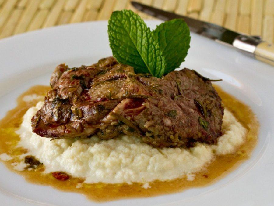 Recipe Corner: Pan Roasted Lamb Steak Over Cauliflower Mash