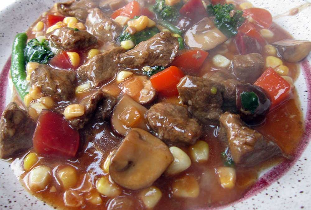 Celeste Longacre's Steak Stir Fry with Bone Broth Recipe