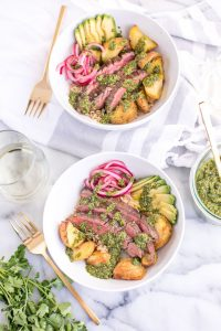 Chimichurri Steak Bowls
