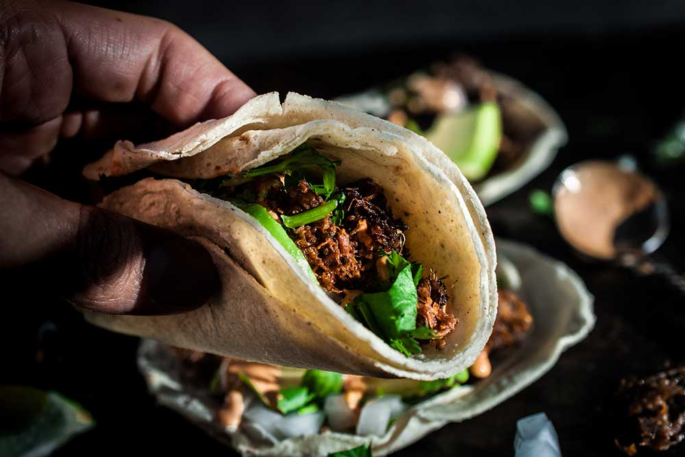 Beef Tongue N' Cheek Tacos with a side of Humor