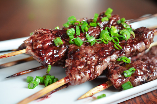 flank steak skewers