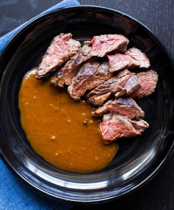 Hanger Steak with Bordelaise Sauce Recipe