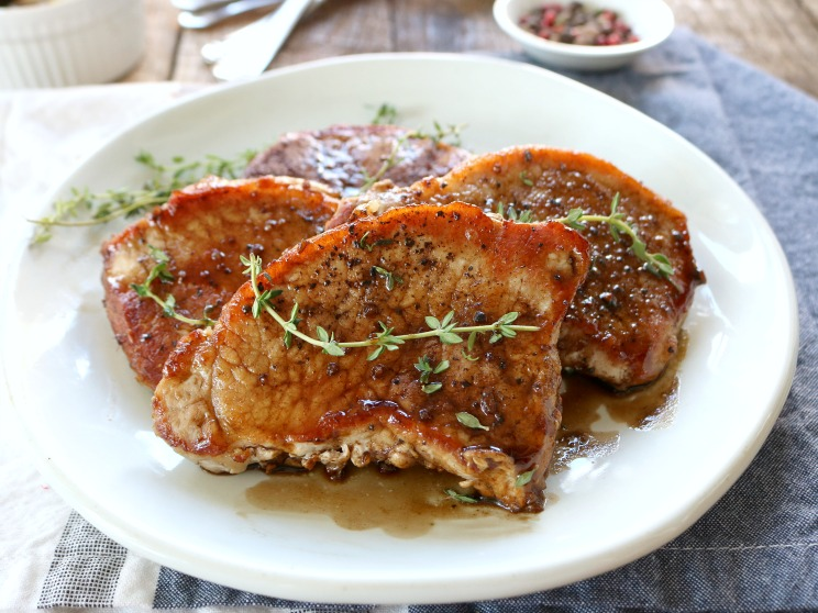 Maple Balsamic Pork Chops Recipe