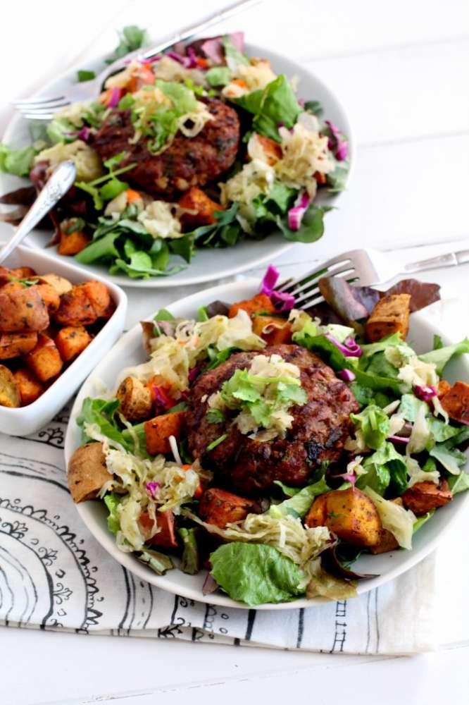Grass-fed Burger Salad