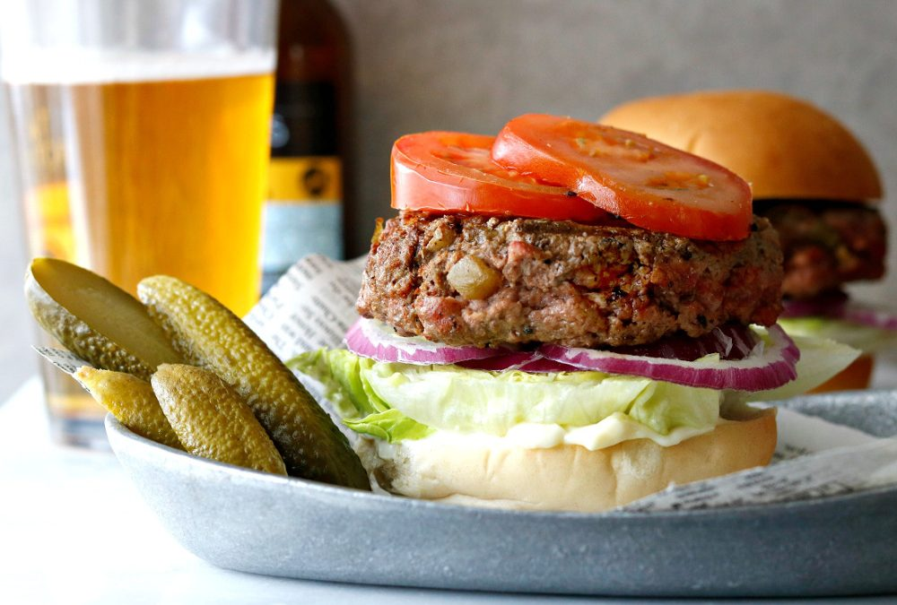 Hatched Green Chile Bison Burger Recipe