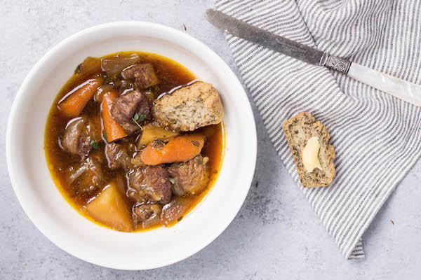 Irish Lamb Stew & Savory Paleo Soda Bread Biscuits Recipe