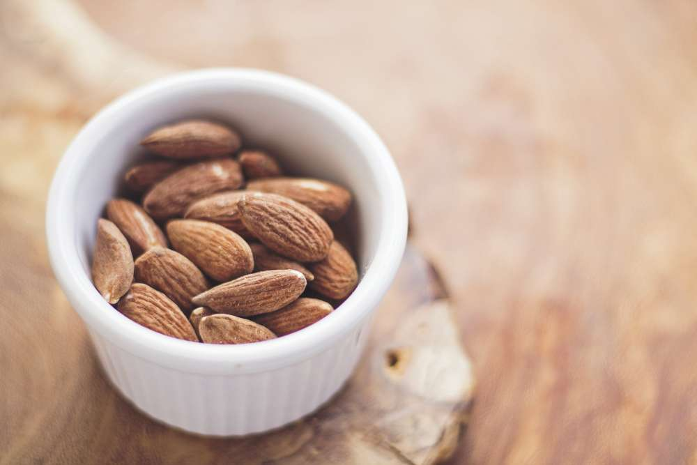 Get a natural supplement of Vitamin E from almonds.