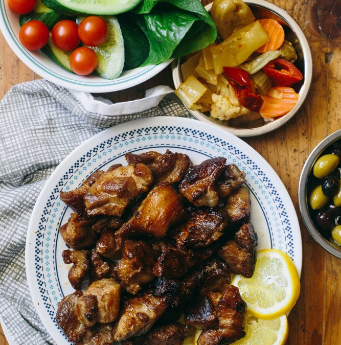 Tigania – Greek Pan-Fried Pork