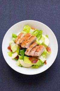 duck breast salad, springtime recipe