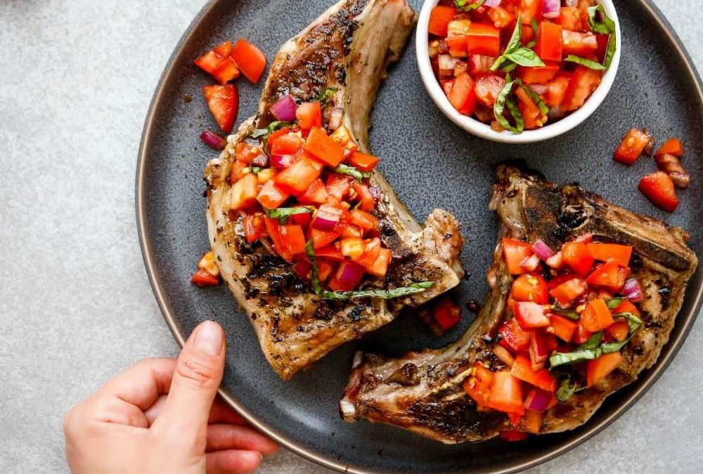 Bruschetta Pork Chops