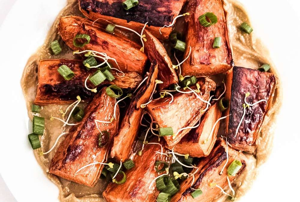 Tahini & Sweet Potato Wedges Recipe