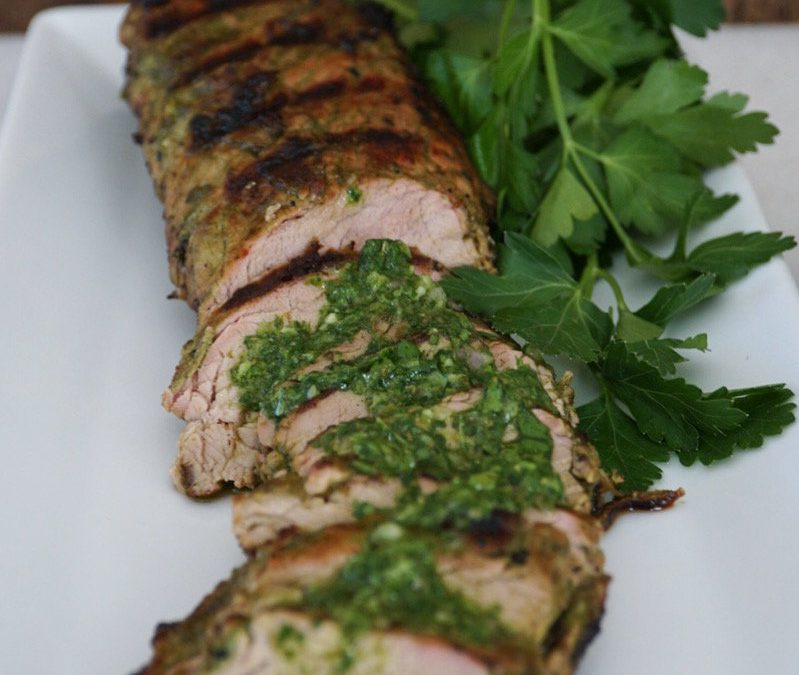 AIP Barbecued Chimichurri Pork Tenderloin