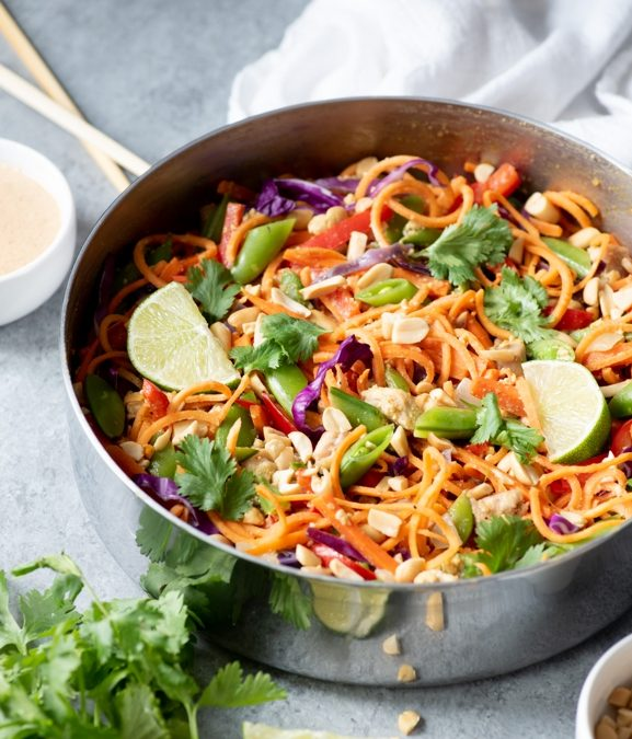 Chicken Pad Thai With Sweet Potato Noodles Recipe