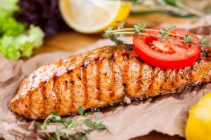 Try eating organic vegetables and wild caught fish to boost fertility.