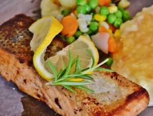 Salmon is a great source of Vitamin B12.