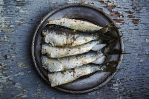 Sardines are a great source of B Vitamin.