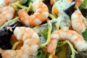 Shrimp is one of the brain foods recommend for cholesterol consumption.