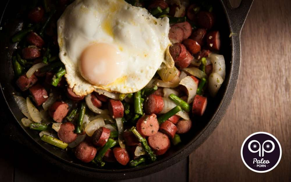 Paleo Breakfast Stir Fry with Hot Dogs Recipe