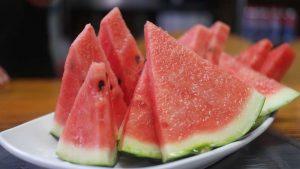 watermelon, summer snacks, strawberries