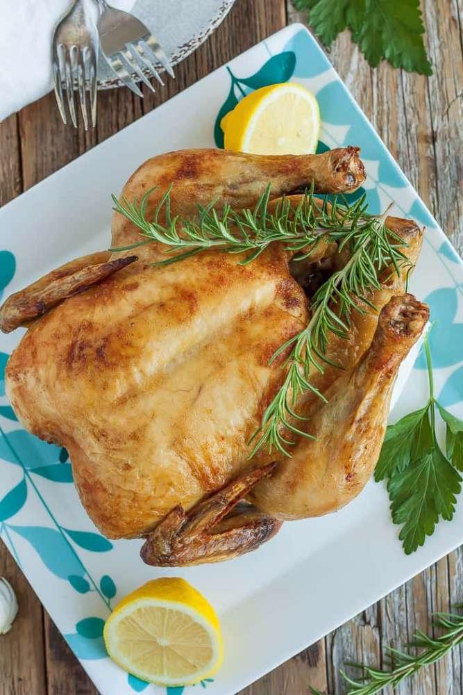 Pale Roast Chicken, Whole30 Recipe, Brined Chicken,