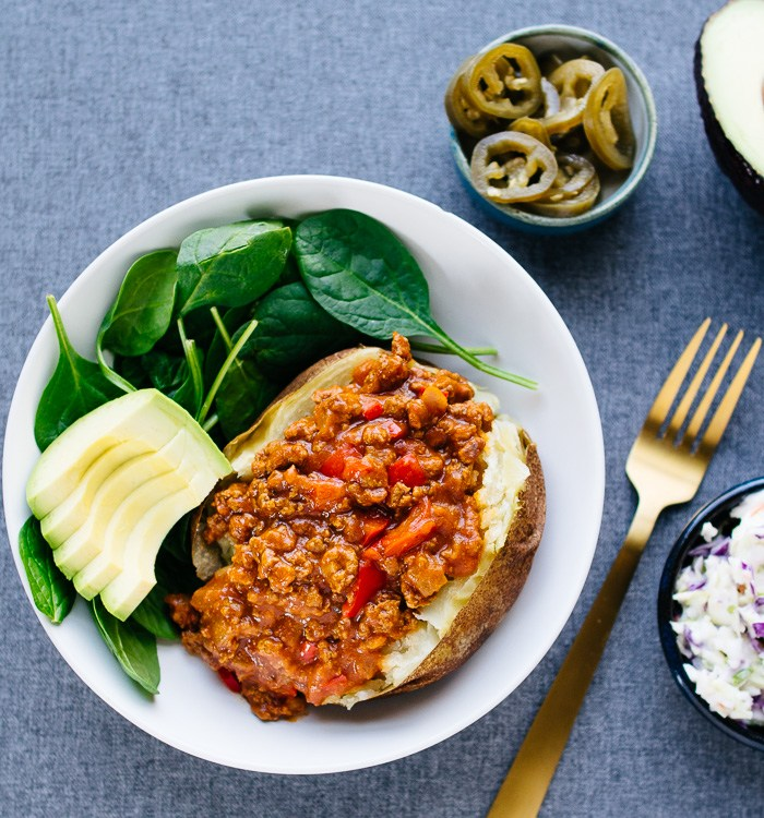 stuffed potato, sloppy joe, paleo, whole30, family recipe