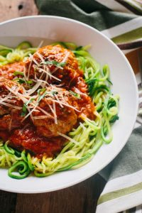 Spaghetti and Meatballs, Russ Crandall, Zoodles, Paleo, Whole30