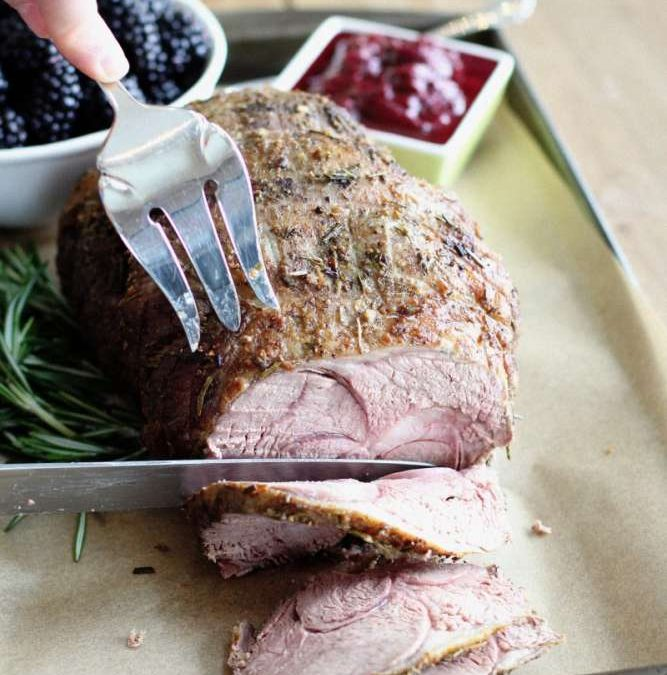 Roasted Leg of Lamb with Blackberry Chutney Recipe