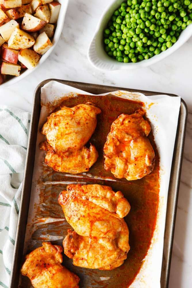 paprika chicken thighs, carrie forrest, family recipe, whole30