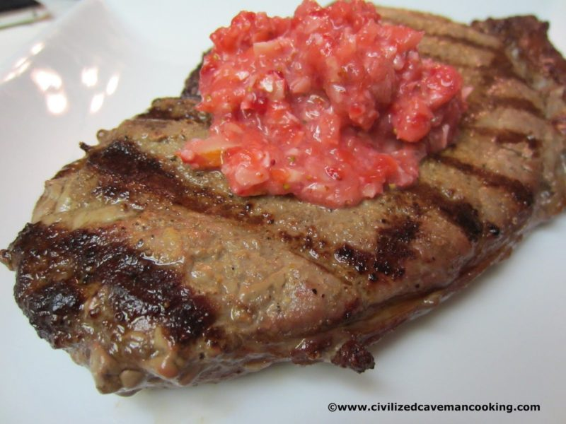 Grassfed Ginger Sirloin with Strawberry Salsa