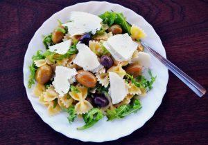 Mediterranean diet, cheese, grains, vegetables, olive oil, olives