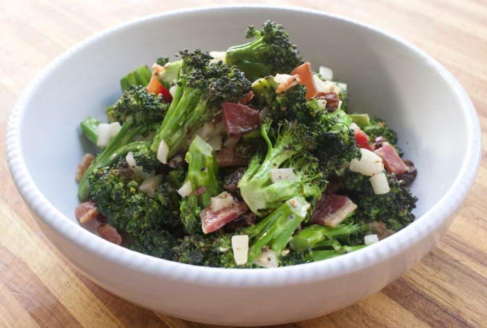 Roasted Broccoli Bacon Salad Recipe