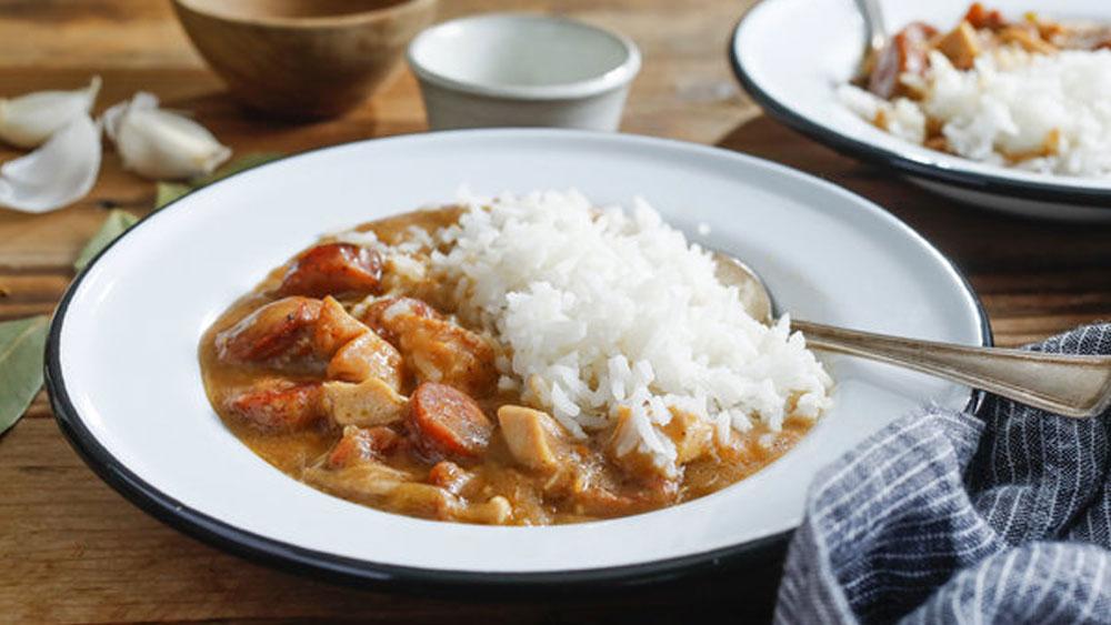 sausage gumbo cajun chicken boil