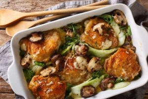 braised chicken, locally sourced vegtable, us wellness meats