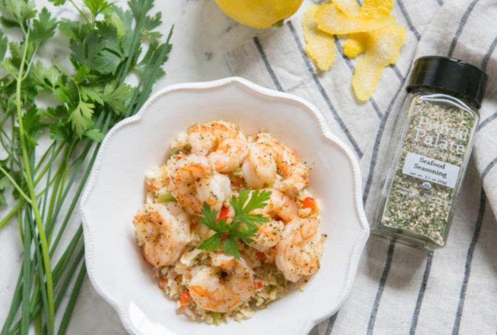 Pan Fried Wild-Caught Shrimp and Rice