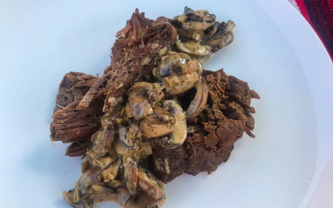 Instant Pot Chuck Roast with Mushroom Cream Sauce Recipe