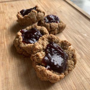 ashleigh vanhouten, thumbprint cookies, blackberry, gluten-free