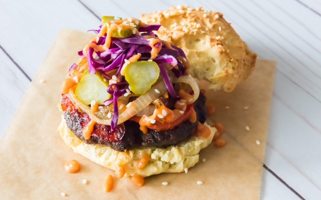 Dominican Chimi Bison Burger Recipe