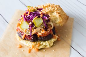bison burger, chimi burger, dominican republic, recipe, featured chef
