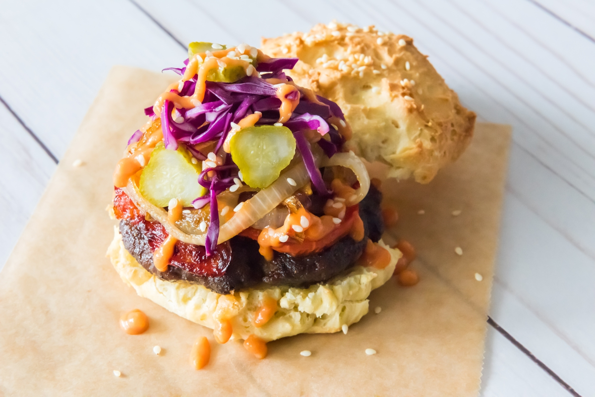 bison burger, chimi burger, dominican republic, recipe, featured chef
