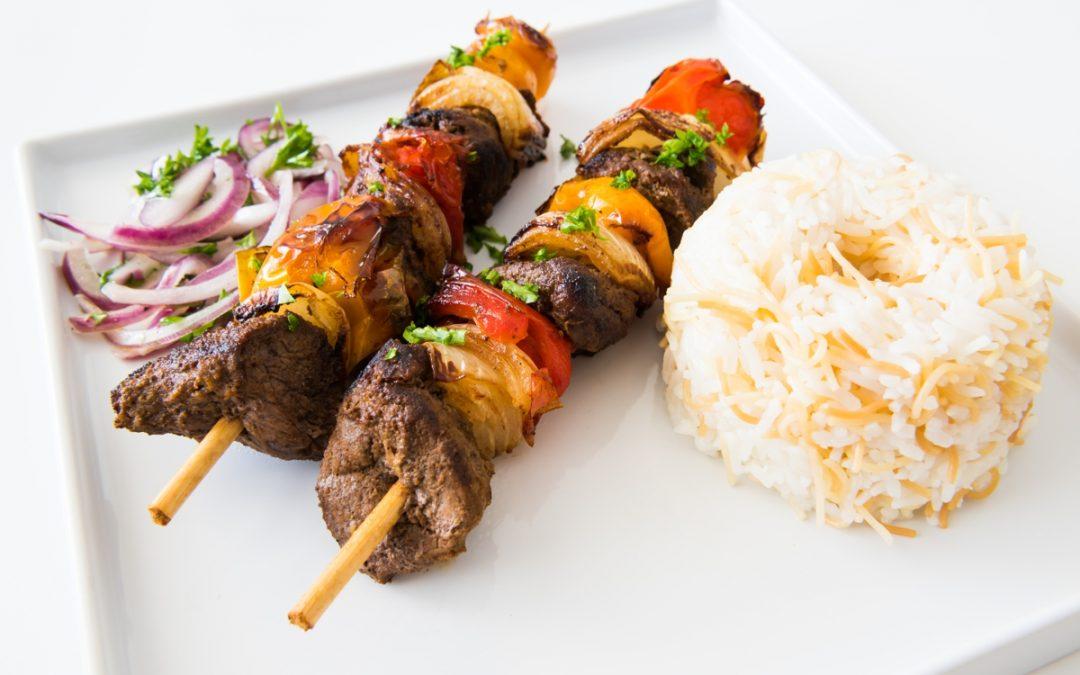 Israeli Seasoned Lamb Kebabs & Lebanese Rice Recipe
