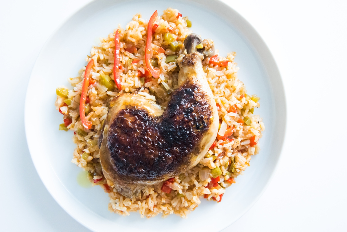 Arroz con Pollo, Chris Gonzalez, pasture raised poultry, chicken, vegetables