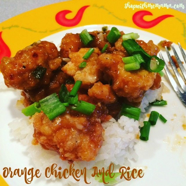 orange chicken recipe, featured chef, chicken and rice
