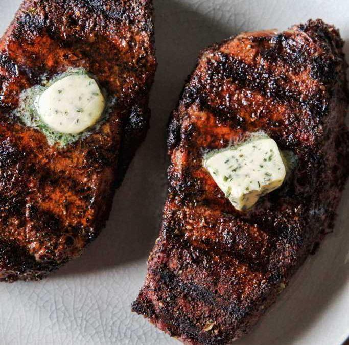 Coffee Rubbed NY Strip Steak Recipe