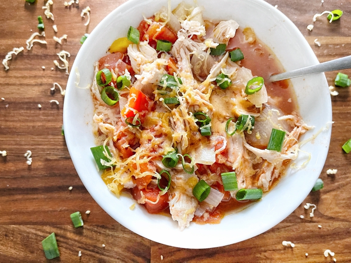 Crockpot Chicken No-Tortilla Soup Recipe