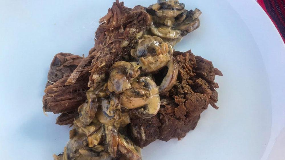 Instant Pot Grass-Fed Chuck Roast With Mushroom Cream Sauce Recipe