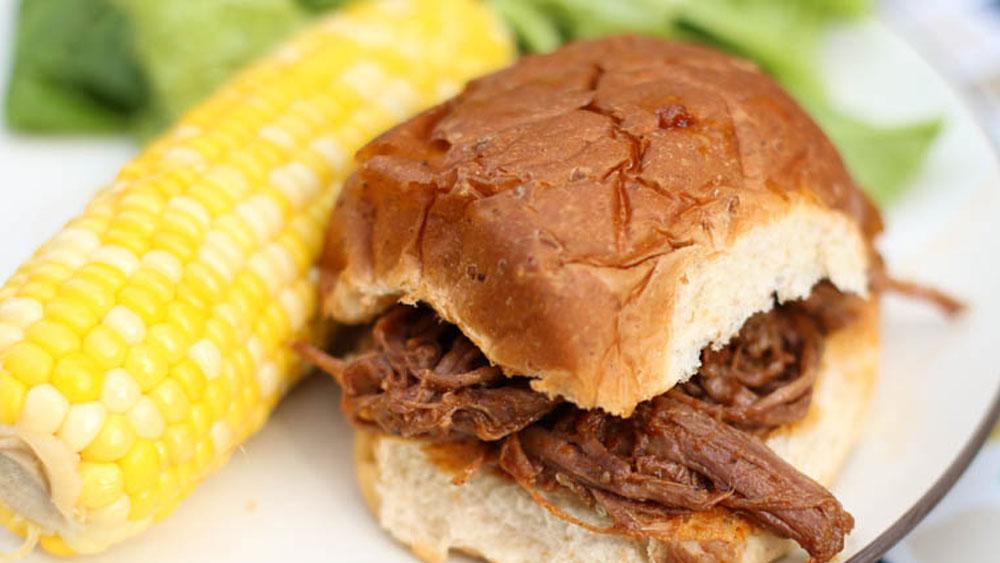 Shredded Grass-Fed BBQ Beef Sandwich Recipe