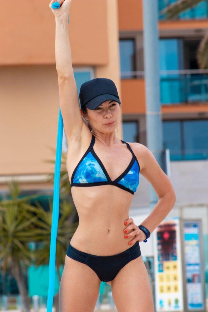 beach strip training, beach workout